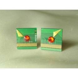 Insolente 14058 - bijou fantaisie boucles d'oreille - circuit imprimé vert