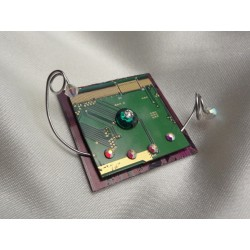 Insolente 14060 - bijou fantaisie broche- circuit imprimé vert