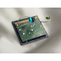 Insolente 14063 - bijou fantaisie broche- circuit imprimé vert