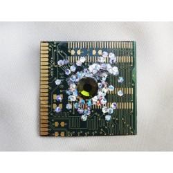 Insolente 14066 - bijou fantaisie broche- circuit imprimé vert