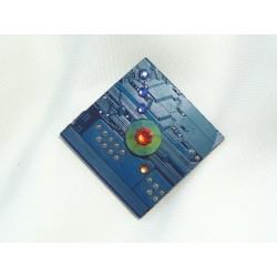 Furtive 12033 - bijou fantaisie pendentif - circuit imprimé bleu