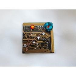 Capricieuse 14055 - bijou fantaisie broche - circuit imprimé doré