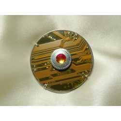 Capricieuse 14058 - bijou fantaisie broche - circuit imprimé doré