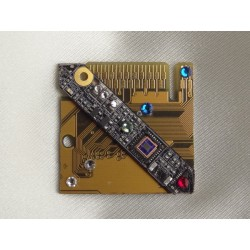Capricieuse 14061 - bijou fantaisie broche - circuit imprimé doré