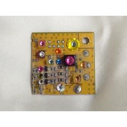Capricieuse 14063 - bijou fantaisie broche - circuit imprimé doré