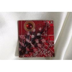 Précieuse 12001 - bijou fantaisie broche - circuit imprimé rouge