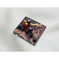 Libertine 13035 - bijou fantaisie broche - circuit imprimé brun cuivré