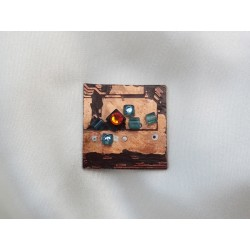 Libertine 13037 - bijou fantaisie broche - circuit imprimé brun cuivré