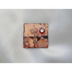 Libertine 13039 - bijou fantaisie broche - circuit imprimé brun cuivré