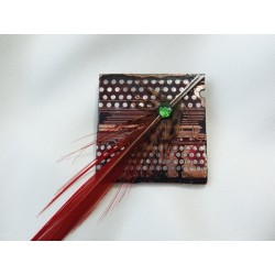 Libertine 13053 - bijou fantaisie broche - circuit imprimé brun cuivré