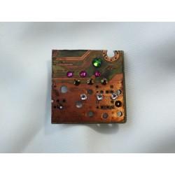 Libertine 13054 - bijou fantaisie broche - circuit imprimé brun cuivré