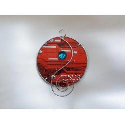 Candide 14036 - bijou fantaisie pendentif - circuit imprimé orange