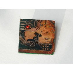 Libertine 15059 - bijou fantaisie broche - circuit imprimé brun cuivré