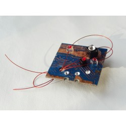 Furtive15040 - bijou fantaisie broche - circuit imprimé bleu
