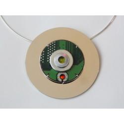 Insolente 14065 - bijou fantaisie broche - circuit imprimé vert