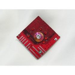 Précieuse 12038 - bijou fantaisie pendentif - circuit imprimé rouge