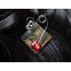 Mystique16056 - bijou fantaisie barrette - circuit imprimé bleu