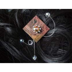 Libertine16061 - bijou fantaisie barrette - circuit imprimé cuivre