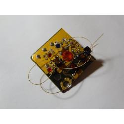 Capricieuse 18078 - bijou fantaisie broche - circuit imprimé doré