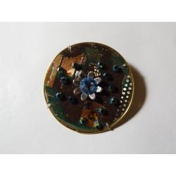Libertine 18080 - bijou fantaisie broche - circuit imprimé cuivré