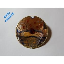 Capricieuse 18077 - bijou fantaisie broche - circuit imprimé cuivré