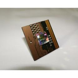 Capricieuse 18089 - bijou fantaisie bague- circuit imprimé doré