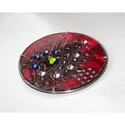 Précieuse 18103 - bijou fantaisie aimanté - circuit imprimé rouge