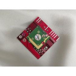 Précieuse 14047 - bijou fantaisie pendentif - circuit imprimé rouge