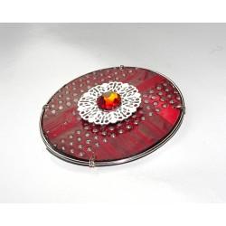 Précieuse 18104 - bijou fantaisie aimanté - circuit imprimé rouge
