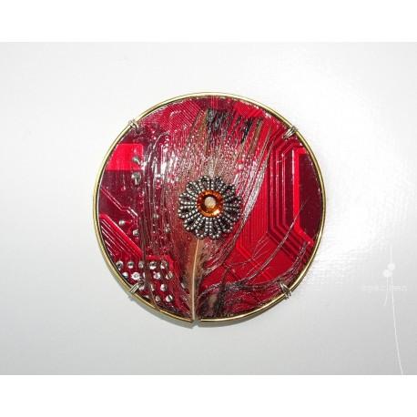 Précieuse 18105 - bijou fantaisie aimanté - circuit imprimé rouge