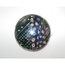 Précieuse 18110 - bijou fantaisie aimanté - circuit imprimé vert