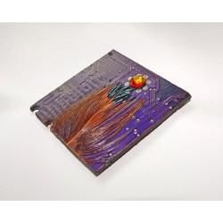 Furtive18111 - bijou fantaisie aimanté - circuit imprimé violet