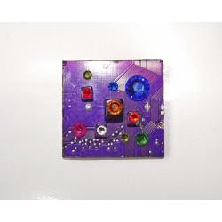 Furtive18112 - bijou fantaisie aimanté - circuit imprimé violet