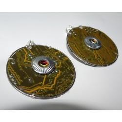 Capricieuse 15069 - bijou fantaisie boucles d'oreilles - circuit imprimé rouge