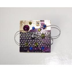 Mystique 18085 - bijou fantaisie broche - circuit imprimé mauve
