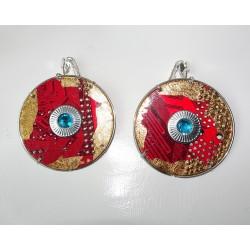 Précieuse 15056 - bijou fantaisie boucles d'oreilles - circuit imprimé rouge