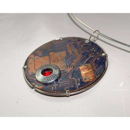 Libertine 18121 - bijou fantaisie pendentif - circuit imprimé cuivré