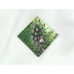 Insolente 12017 - bijou fantaisie pendentif - circuit imprimé vert