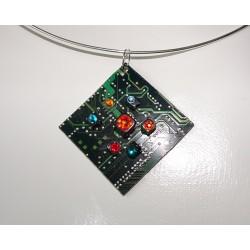 Insolente 18131 - bijou fantaisie pendentif - circuit imprimé vert