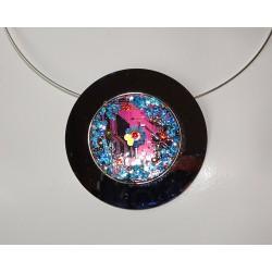 Mystique 15055 - bijou fantaisie pendentif - circuit imprimé violet