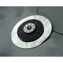 Mystique 18133 - pendentif bijou fantaisie - circuit imprimé violet