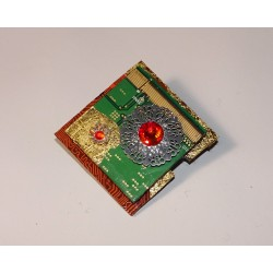 Insolente 14062 - bijou fantaisie broche- circuit imprimé vert