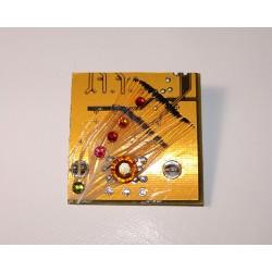 Capricieuse 12038 - bijou fantaisie broche - circuit imprimé doré