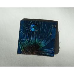 Furtive18099 - bijou fantaisie aimanté - circuit imprimé bleu
