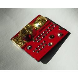 Précieuse 18107 - bijou fantaisie aimanté - circuit imprimé rouge