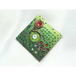 Insolente 12039 - bijou fantaisie pendentif - circuit imprimé vert