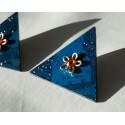 Furtive18146 - boucles d'oreilles bijou fantaisie - circuit imprimé bleu