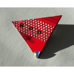 Précieuses18145 - boucles d'oreilles bijou fantaisie - circuit imprimé rouge