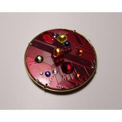 mystique 18155 - bijou fantaisie aimanté - circuit imprimé violet
