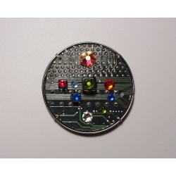 precieuse18156 - bijou fantaisie aimanté - circuit imprimé violet